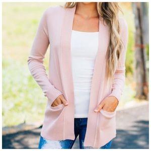New blush pink ultra soft boyfriend cardigan